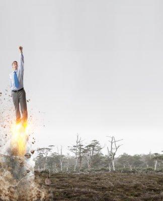 Die Rakete bist du, es weiss nur noch keiner? Lass' es deine Umwelt wissen... (Foto: Sergey Nivens/ Shutterstock)