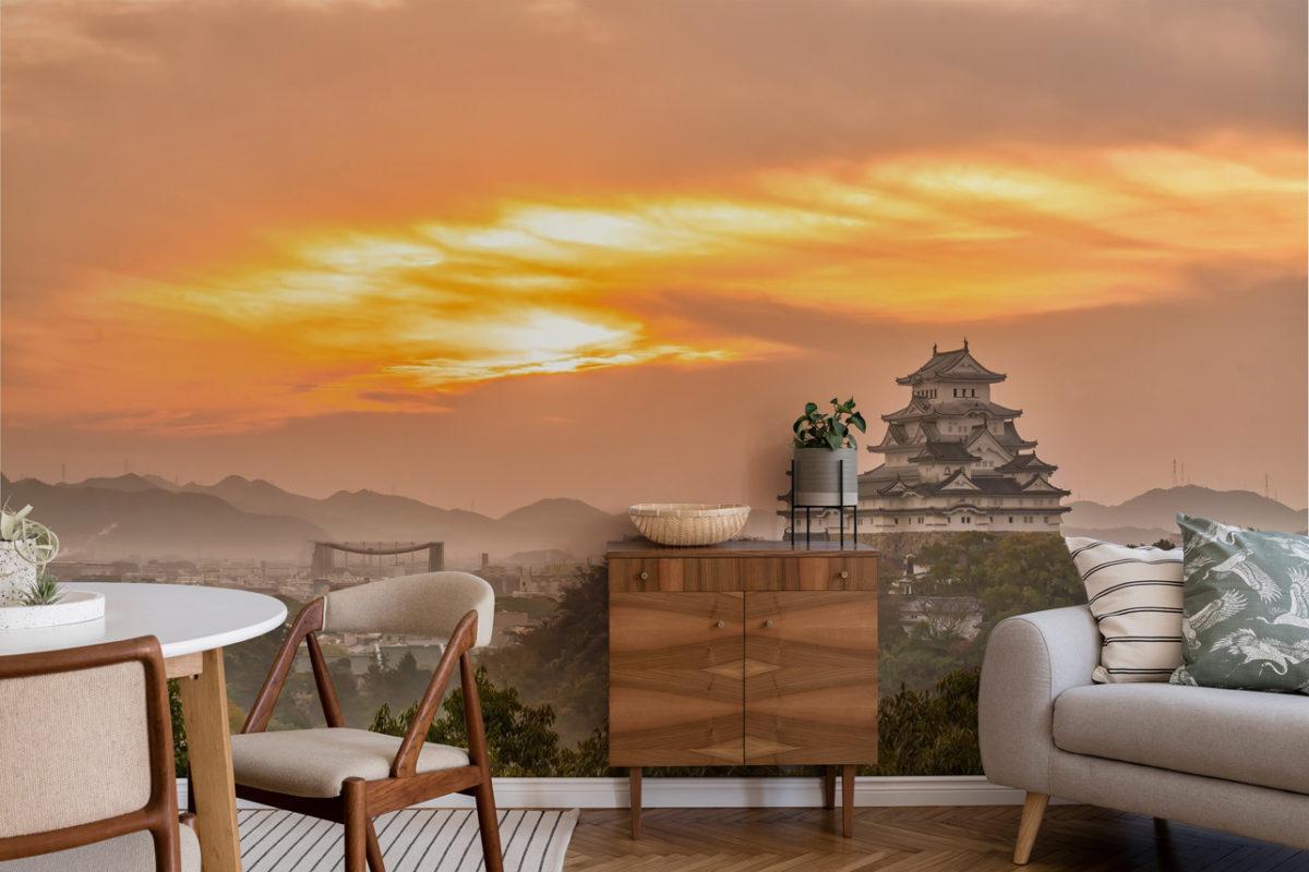 Orientalische Fototapete im Home-Office (Foto: myredro.de)